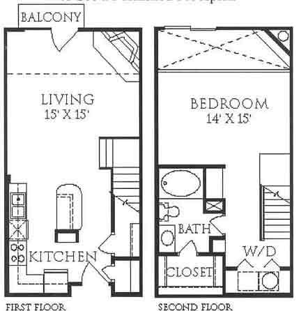 844 sq. ft. floor plan