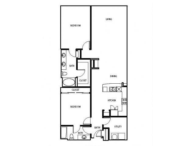 1,451 sq. ft. P4 floor plan
