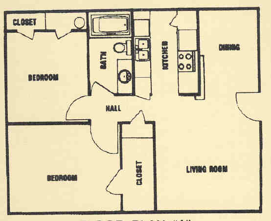 850 sq. ft. A floor plan
