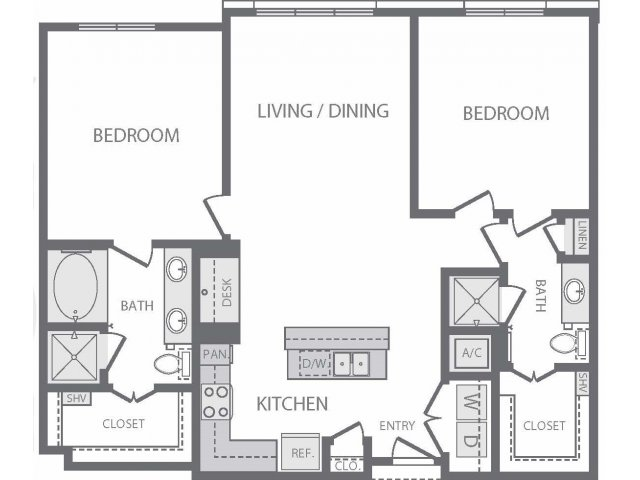 1,154 sq. ft. to 1,181 sq. ft. B6 floor plan