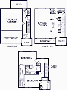 1,849 sq. ft. GIBRALTAR TWO floor plan