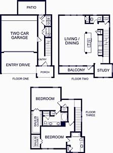 1,849 sq. ft. Gibraltar Two floor plan
