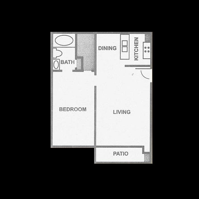 558 sq. ft. floor plan