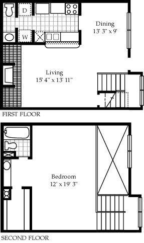 992 sq. ft. A14 floor plan
