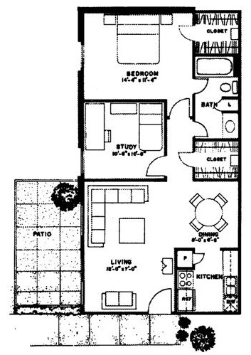 848 sq. ft. San Blas floor plan