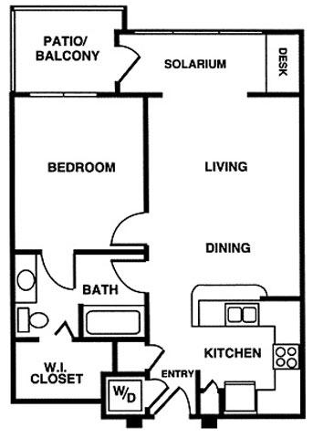 717 sq. ft. floor plan