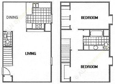 1,295 sq. ft. F floor plan