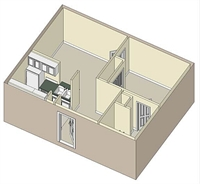 485 sq. ft. 60% floor plan