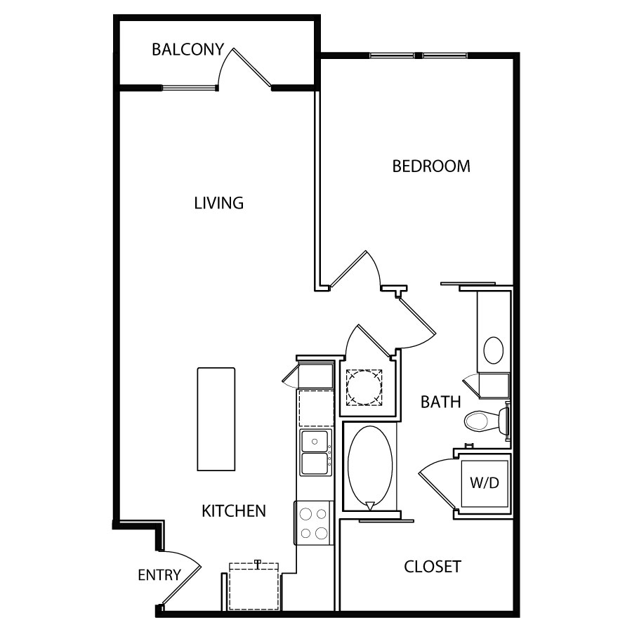 704 sq. ft. A4 floor plan