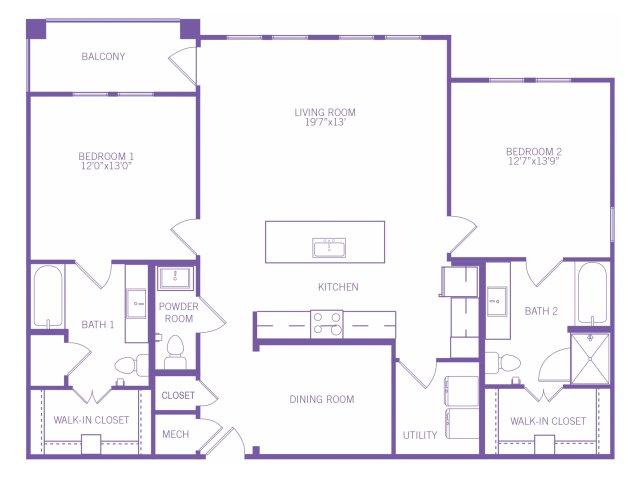 1,485 sq. ft. B8G floor plan