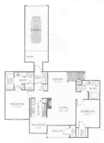 1,188 sq. ft. B3 floor plan