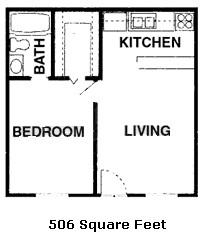 506 sq. ft. 50% floor plan