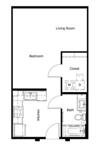 497 sq. ft. floor plan