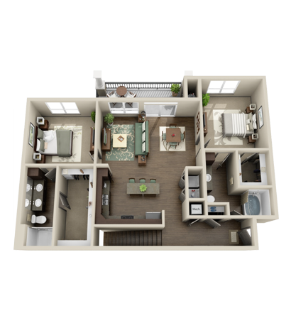 1,328 sq. ft. Trinity floor plan