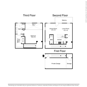 1,160 sq. ft. A4TH floor plan