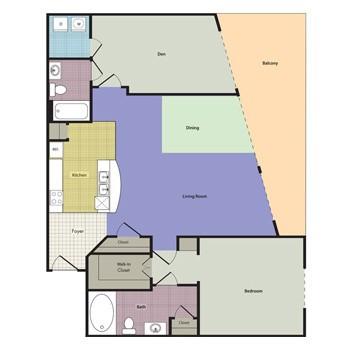 1,530 sq. ft. Belcourt floor plan