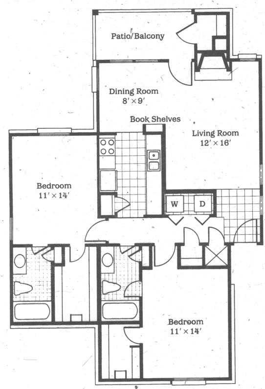 1,096 sq. ft. Venus floor plan