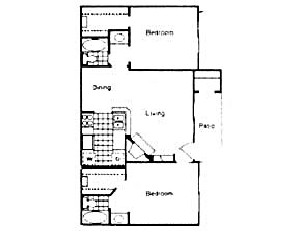 950 sq. ft. G floor plan