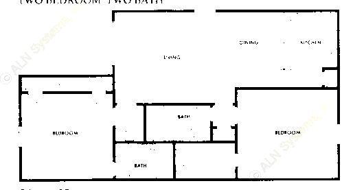 936 sq. ft. B2 floor plan