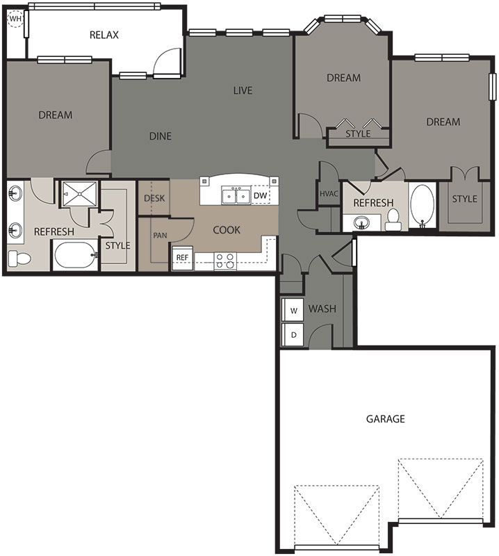 1,416 sq. ft. Max floor plan