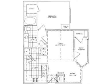 802 sq. ft. A floor plan