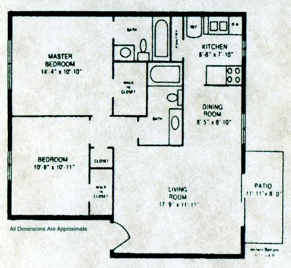 902 sq. ft. B-3 floor plan