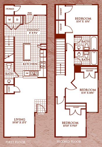 1,267 sq. ft. C1/60% floor plan