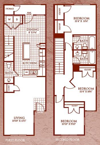 1,267 sq. ft. C1/60 floor plan
