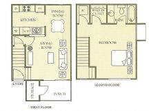 722 sq. ft. floor plan