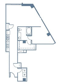 906 sq. ft. A6 floor plan