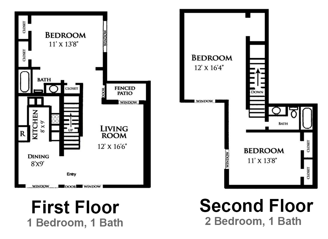 1,200 sq. ft. Gardenia floor plan