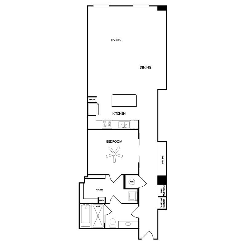 1,149 sq. ft. A8 floor plan