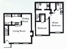 1,010 sq. ft. D floor plan