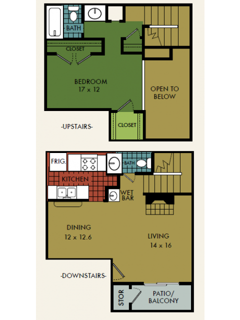 1,068 sq. ft. floor plan