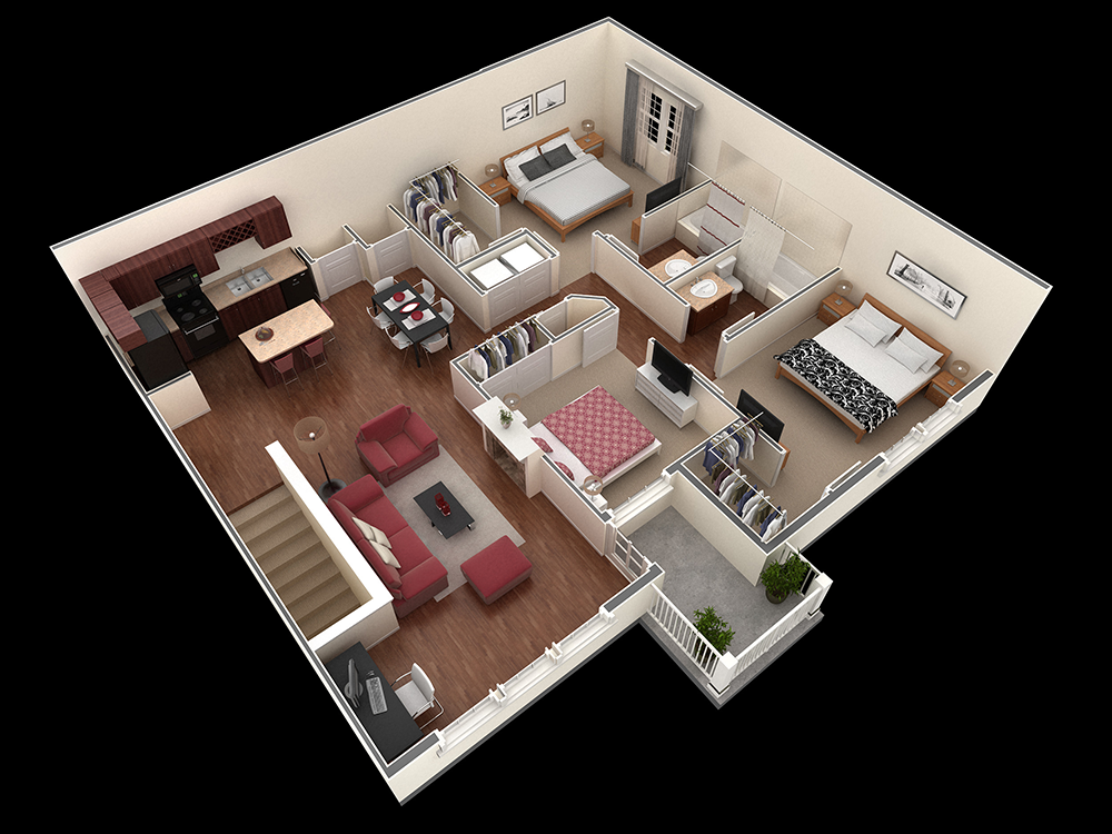1,404 sq. ft. McClinton floor plan