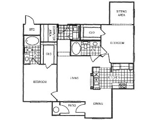 1,248 sq. ft. F1 floor plan