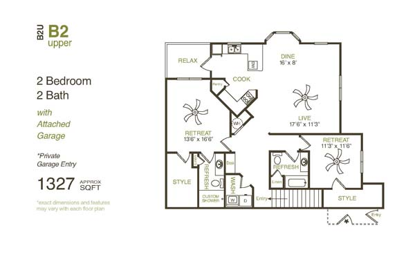 1,458 sq. ft. B2UG floor plan