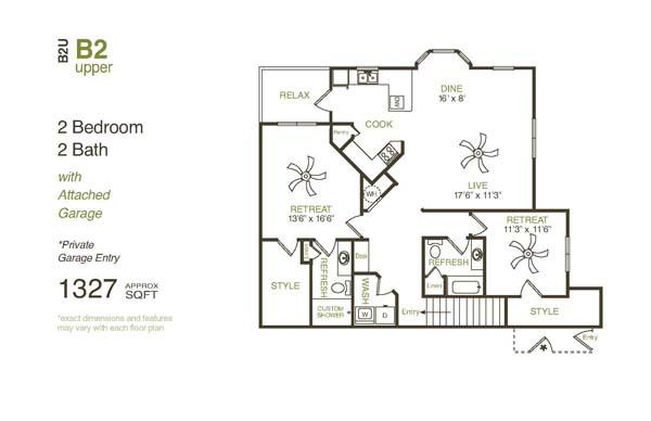 1,458 sq. ft. B2UG floor plan