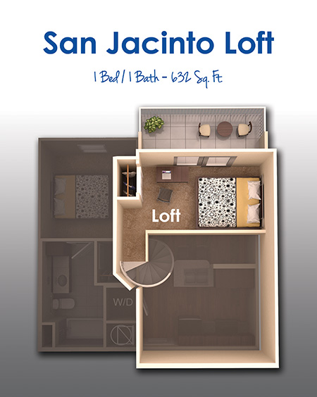632 sq. ft. floor plan