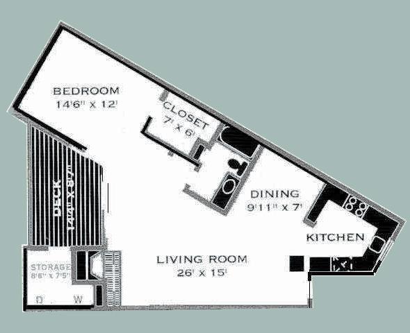 838 sq. ft. E/COPPERFIELD I floor plan