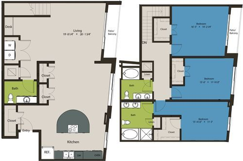 2,030 sq. ft. TSR floor plan
