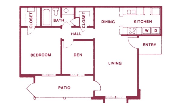 789 sq. ft. floor plan