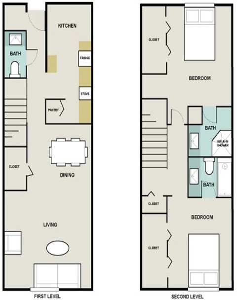 1,395 sq. ft. Red Rescue floor plan