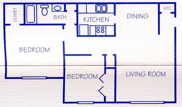 796 sq. ft. floor plan