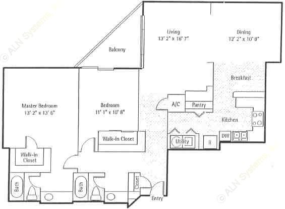 1,340 sq. ft. Regency floor plan