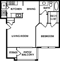 771 sq. ft. 60 floor plan