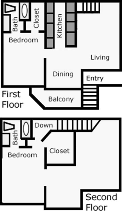 1,080 sq. ft. Golden Bloom floor plan