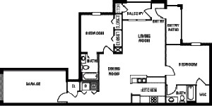 1,188 sq. ft. 60% floor plan