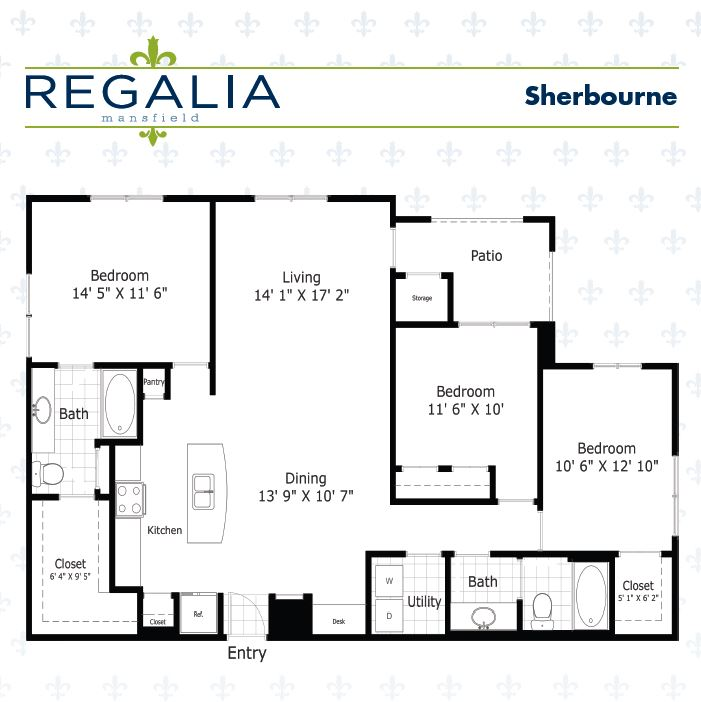 1,389 sq. ft. floor plan