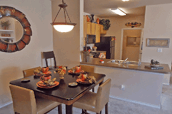Dining/Kitchen at Listing #144963
